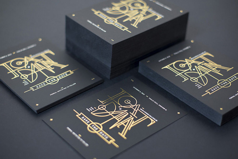 Uncoated Business Cards | Stamped Foil
